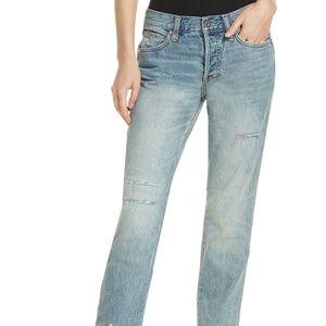 NWT! Free People Pioneer Semi-Destroyed Jeans